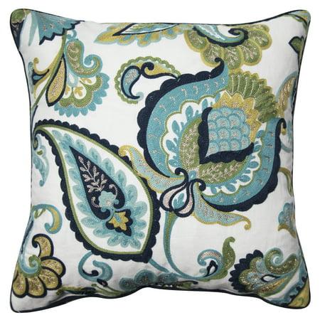 Custom Accent Pillows (Better Homes and Gardens Paisley Floral Accent Pillow, Green, 18