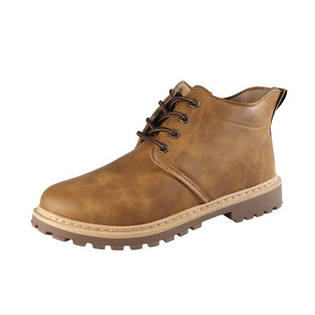 Autumn Winter Oil Wax Leather Martin Boots Casual Footwear Work Shoes Fashion Lace Up Leather Boots for Men - image 3 of 10