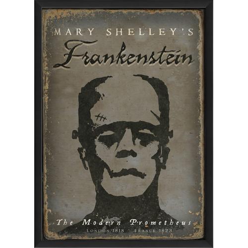 The Artwork Factory Frankenstein Framed Vintage Advertisement