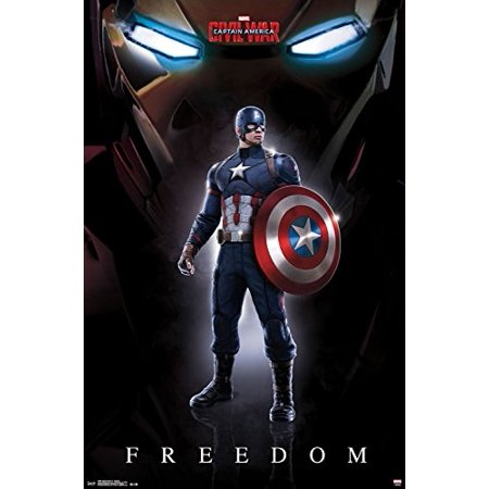 Trends International Captain America 3 Freedom Wall Poster 22.375