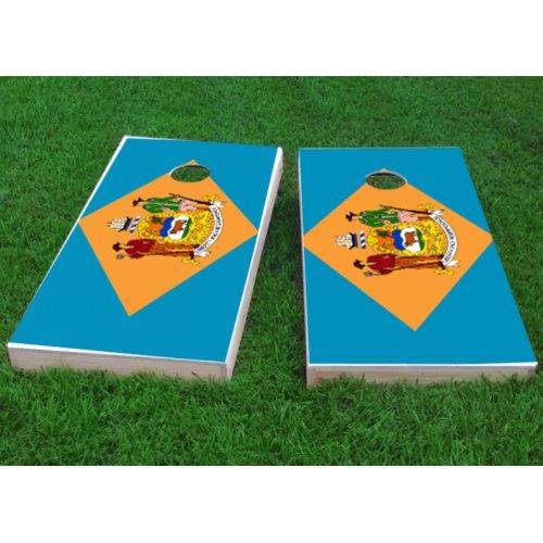 Custom Cornhole Boards Delaware State Flag Cornhole Game (Set of 2) by Custom Cornhole Boards