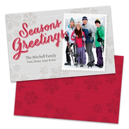 (Postage Stamp Personalized Photo Holiday Card)