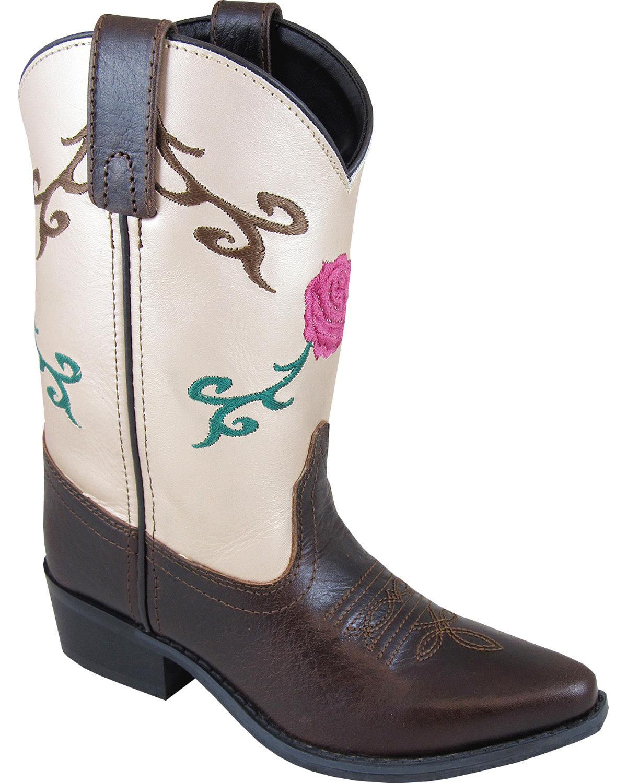 Smoky Mountain Girls' Lucky Girl Western Boot Snip Toe - 3614C