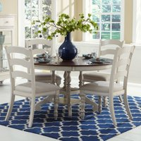 Hillsdale Furniture Pine Island 5-Piece Round Dining Set with Ladder Back Chairs
