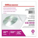 10-Pack Office Depot Sheet Protector CD/DVD Pockets