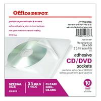 10-Pack Office Depot Sheet Protector CD/DVD Pockets