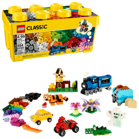 LEGO Classic Medium Creative Brick Box 10696 creative building Toy (484 Pieces)](Building Block Bags)