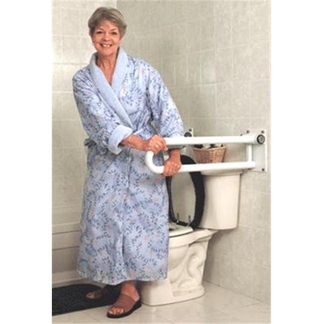 HealthCraft Products PT-WR32L-PCW P.T. Rail- Hinged- 32  -81cm- Left- White