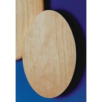 Unfinished Oval Plaques, Pack of 12