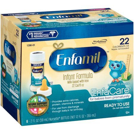 Enfamil  Enfacare  Ready To Use Infant Formula 6 2 Fl  Oz  Nursette  Bottles