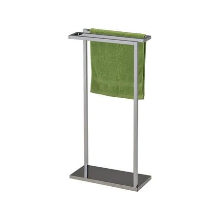 Kiana chrome metal transitional free standing kitchen - Bathroom towel racks free standing ...