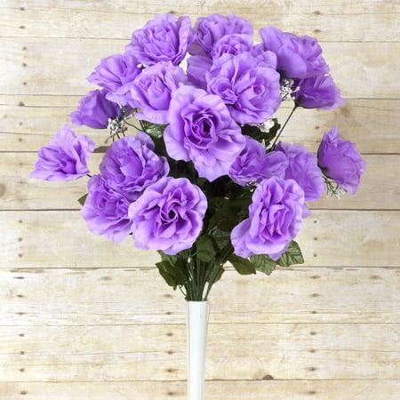 balsacircle 96 giant open rose bush flowers for wedding party centerpieces. Black Bedroom Furniture Sets. Home Design Ideas