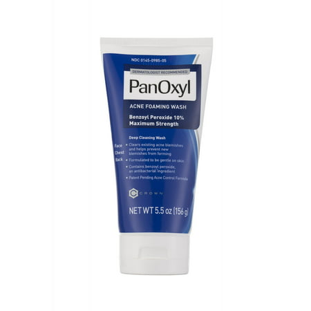 PanOxyl Foaming Acne Wash, Maximum Strength, 10% Benzoyl Peroxide - 5.5 (Best Way To Treat Back Acne)