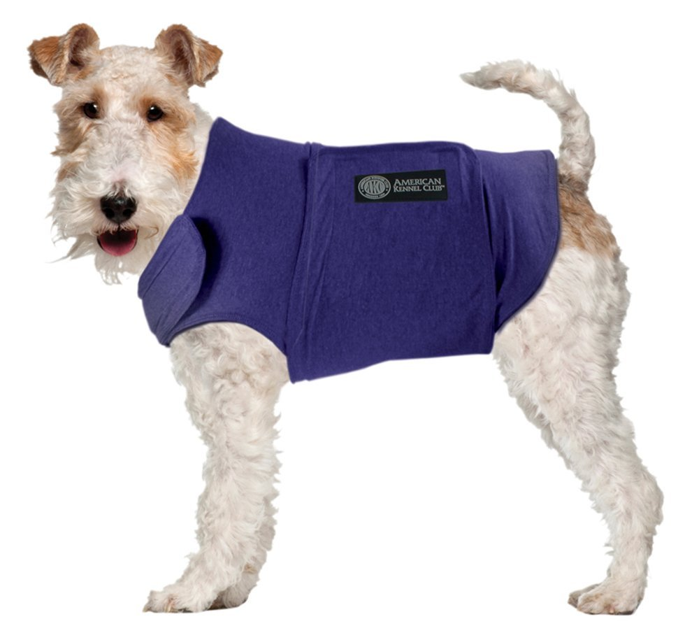 Image of AKC Calming Coat Anti-Anxiety Stress Relief Coat For Your Dog Blue XL 70-100lbs.