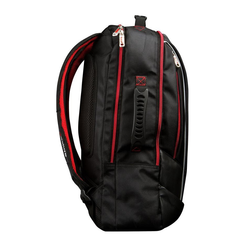 Msi Padded Polyester Backpack With Carrying Handle Black Laptop Bag Heavy Duty