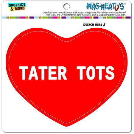 I Love Tater Tots Automotive Car Refrigerator Locker Vinyl Magnet