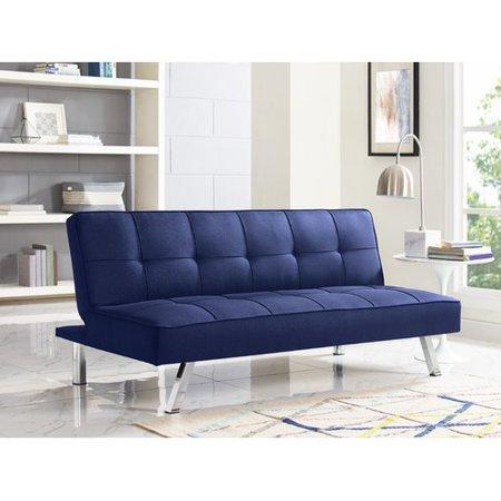 Cambridge Convertible Sofa Navy Serta