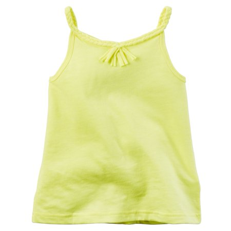 Carters Baby Clothing Outfit Girls Neon Braided Tassel Tank Yellow - Neon Outfit