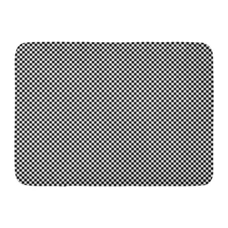 GODPOK Mini Small Miniature Black and White Squares Checkerboard Abstract Rug Doormat Bath Mat 23.6x15.7 inch (Black And White Checkered Floor)