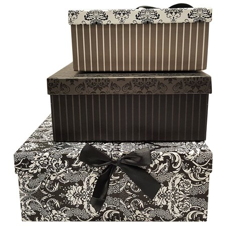 Alef Elegant Decorative Themed Nesting Gift Boxes 3 Boxes Nesting Boxes Beautifully Themed And Decorated Perfect For Gifts Or Simple Decoration
