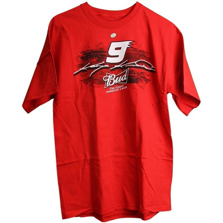 c6357059 NASCAR Kasey Kahne Budweiser Bud King of Beers #9 Adult Men's T ...