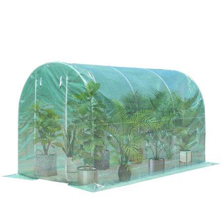 11.5'x 6.5'x 6.5' Walk-in Greenhouse Steel Frame Backyard Grow Tents 6 Windows - image 1 of 10