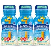 PediaSure Grow & Gain Kids Nutritional Shake, with Protein, DHA, and Vitamins & Minerals, Vanilla, 8 fl oz, 24 Count