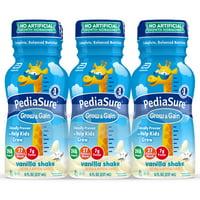 PediaSure Grow & Gain Kids? Nutritional Shake, with Protein, DHA, and Vitamins & Minerals, Vanilla, 8 fl oz (Choose Pack)