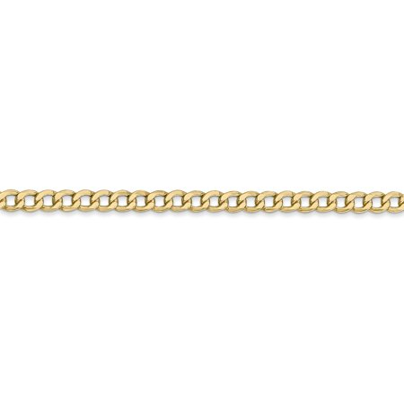 14K Yellow Gold 3.35mm Semi-Solid Curb Link Chain 18 Inch - image 1 of 5