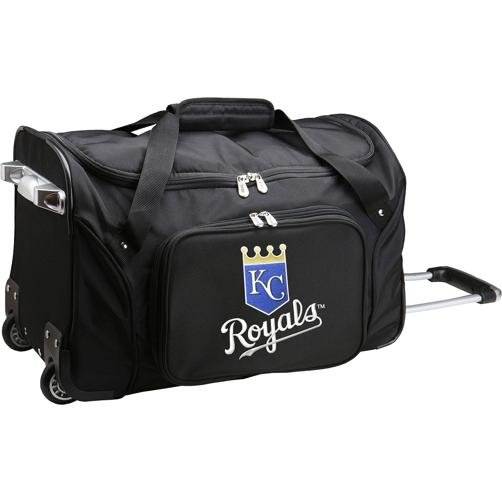 "Kansas City Royals 22"" 2-Wheeled Duffel Bag - Black - No Size"