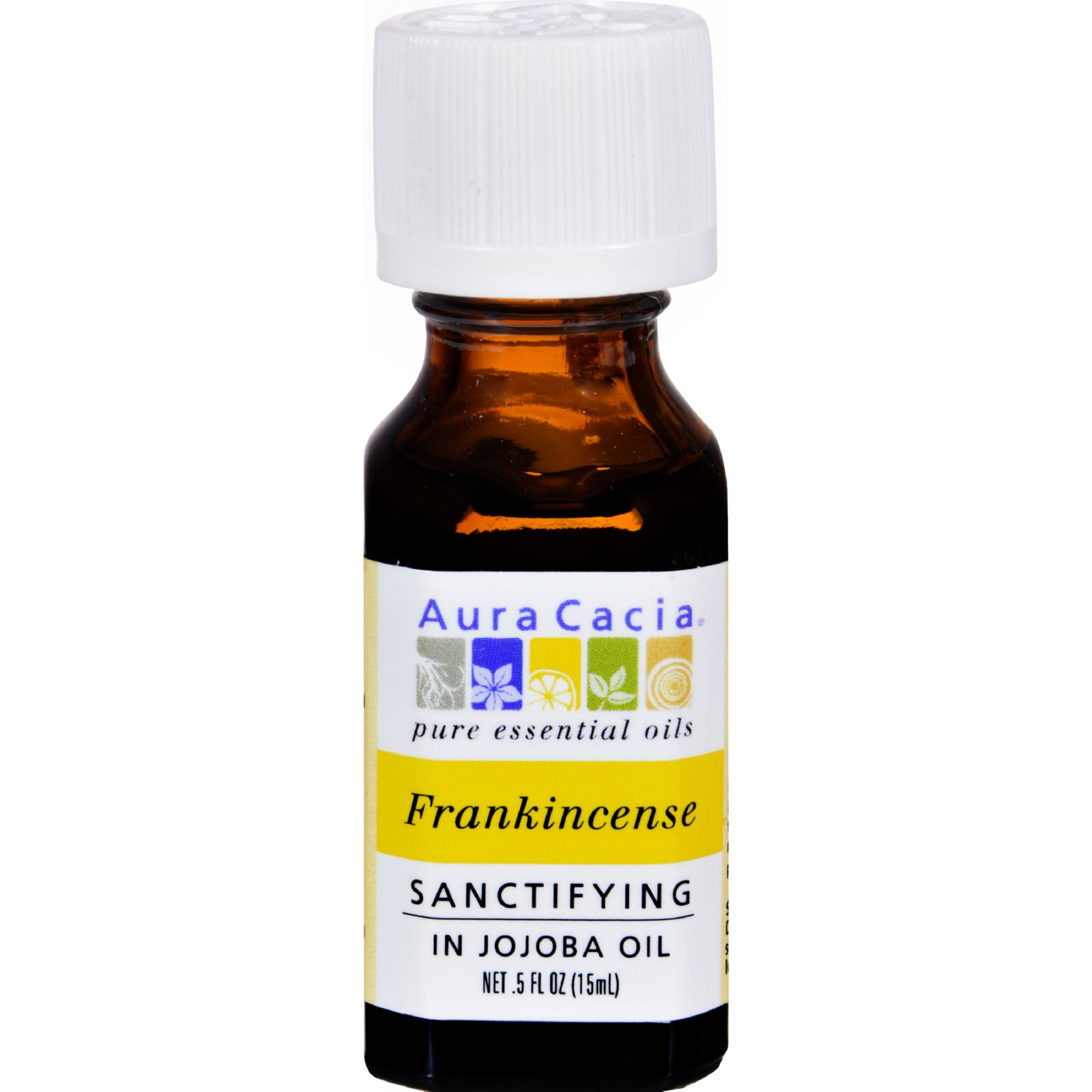 Aura Cacia Frankincense Essential Oil with Jojoba Oil .5 Fl oz.