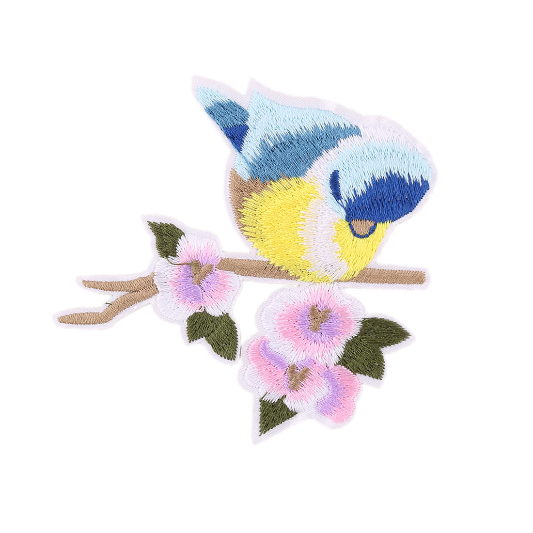 Unique Bargains Household Polyester Bird Pattern Embroidery Handicraft DIY Shoes Lace Applique