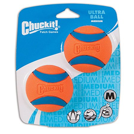 Chuckit Player - Chuckit! Ultra Dog Ball Bounces and Floats Bright Orange and Blue 2 Pack Small
