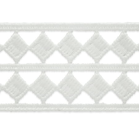 Expo Int'l 5 yards of Two Row Diamond Border Lace Trim