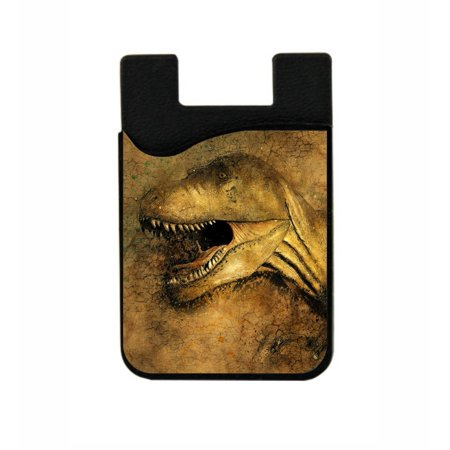 Dinosaur   Jacks Outlet Tm Black Stick On Silicon Card Phone Pocket
