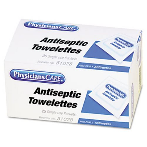 Physicianscare First Aid Antiseptic Towelettes, 25 Towelettes (FAO51028)