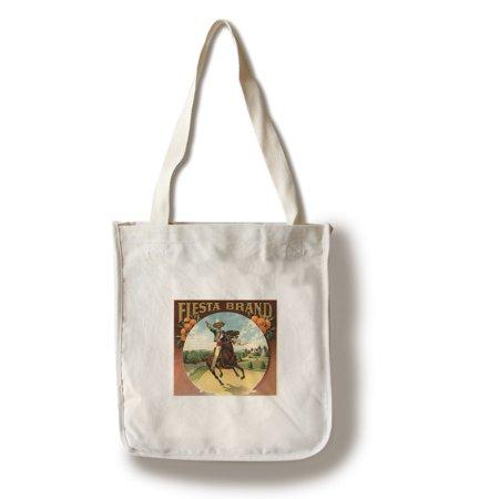Fiesta Brand - California - Citrus Crate Label (100% Cotton Tote Bag - Reusable)