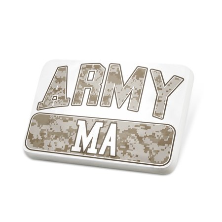 Porcelein Pin ARMY Ma, Camo Lapel Badge – NEONBLOND