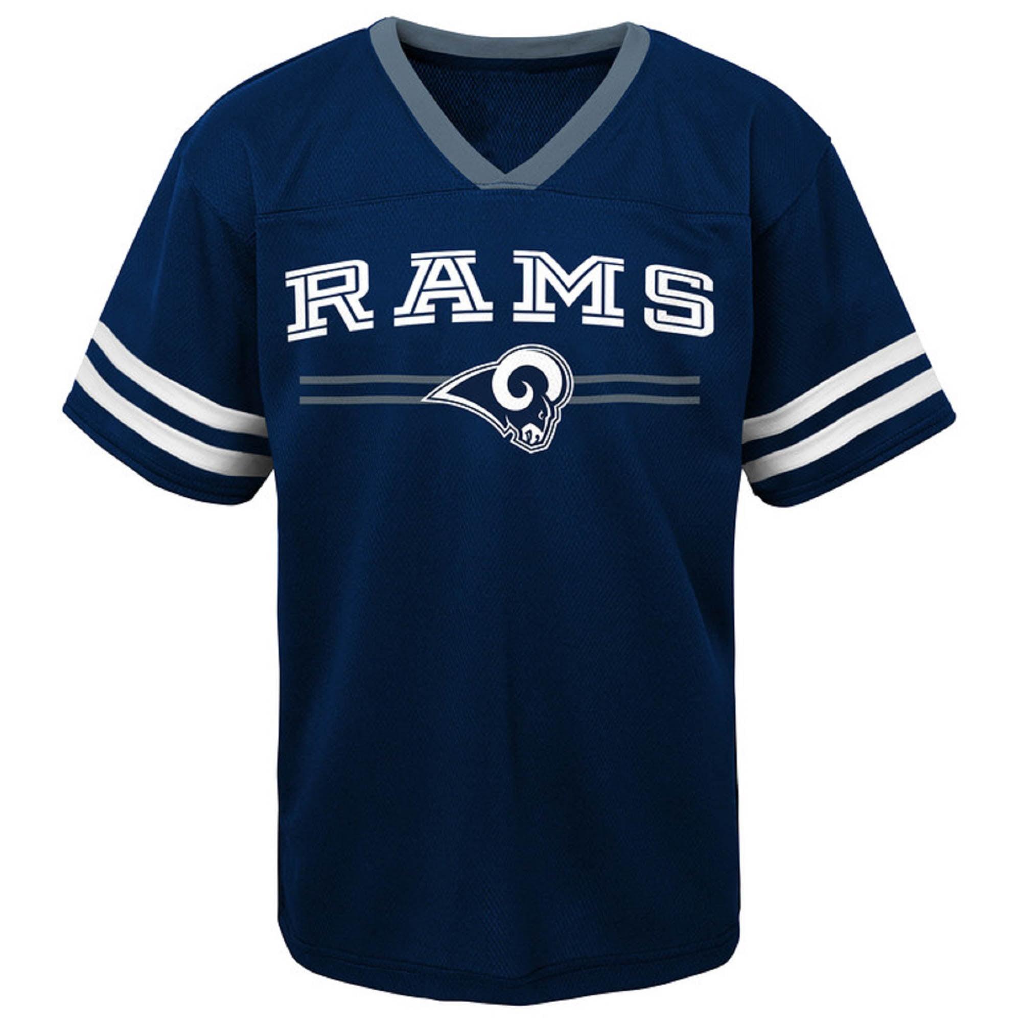 Newborn & Infant Navy Los Angeles Rams Mesh Jersey T-Shirt