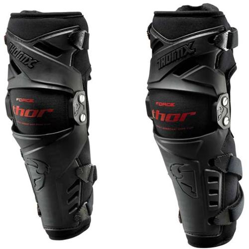 Thor Force MX Motocross Knee Guard Black SM/MD