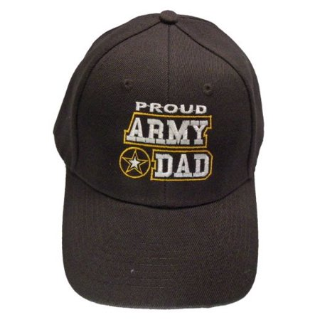 87cbb7778fdd9 Buy Caps and Hats - Proud Army Dad Baseball Cap Black Patriotic Mens U.S.  Military Hat - Walmart.com