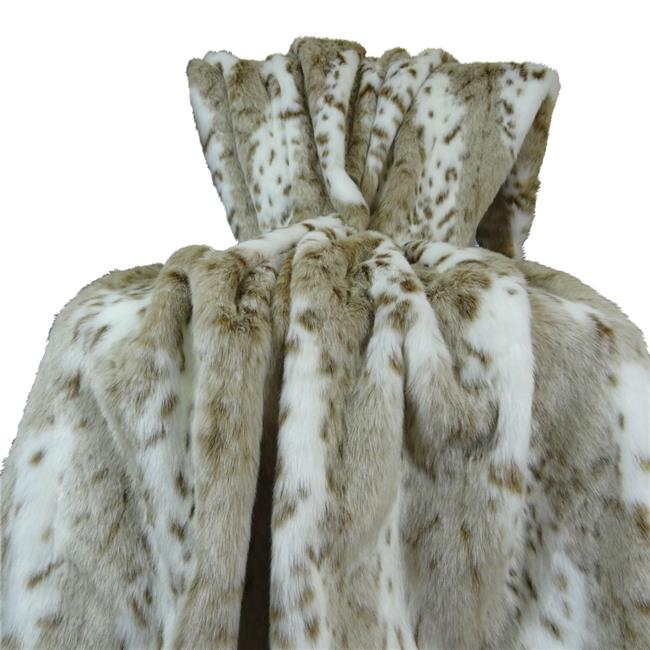 Plutus PB16431-9090-TC 90 x 90 in. Siberian Leopard Handmade Throw Blanket - White, Taupe & Brown - image 1 de 1