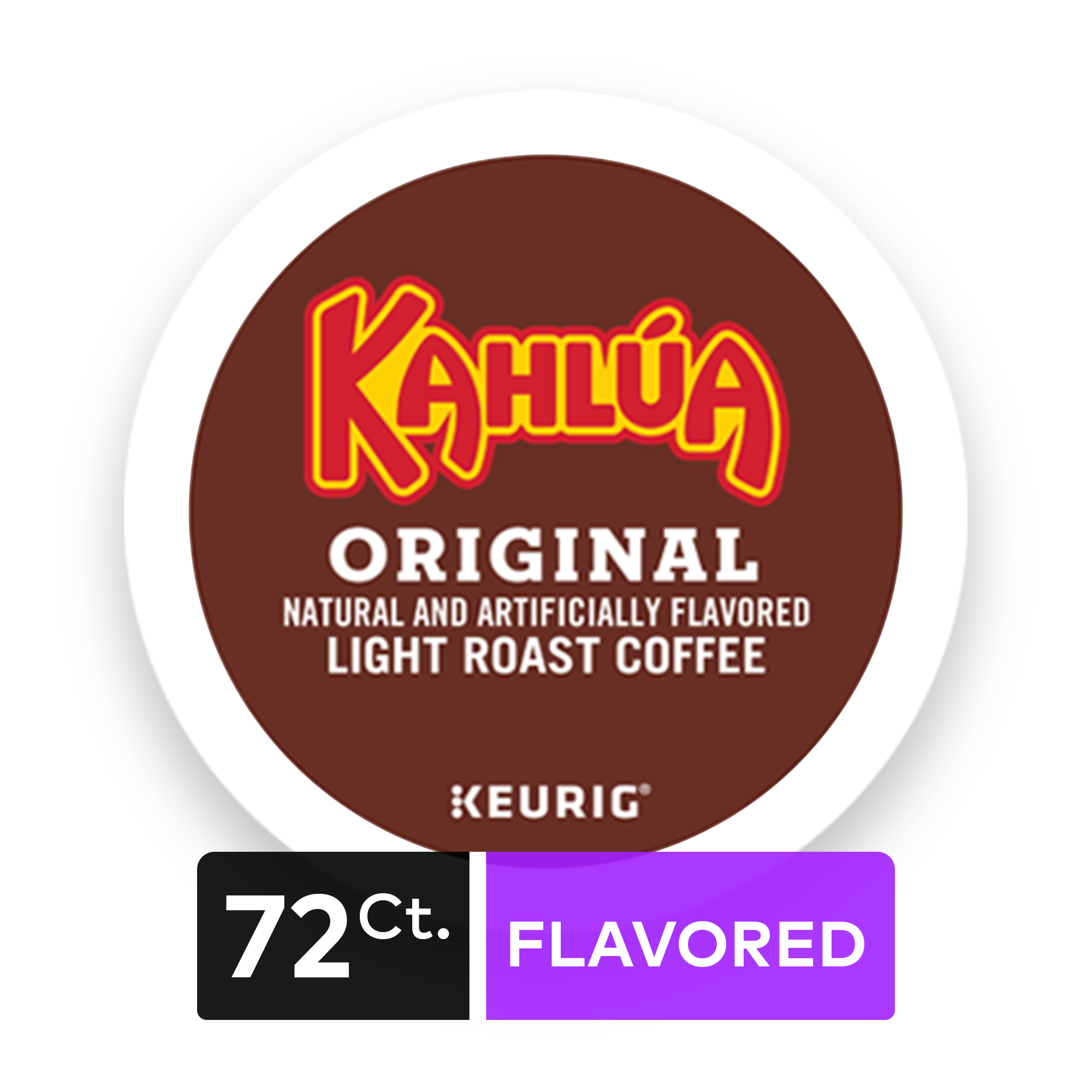 (4 Pack) Kahlua Coffee, Keurig K-Cup Pods, Light Roast, 18 Count