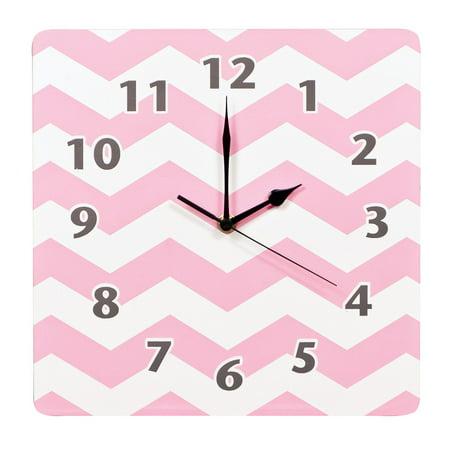 Product of Trend Lab Wall Clock, Pink Sky Chevron - Clocks [Bulk - Pink Sayings