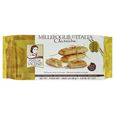 Vicenzi 278487 441 Oz Pastry Millefoglie Italian Puff Pack Of 8