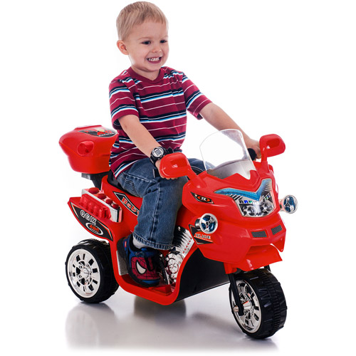 Ride on Toy, 3 Wheel Motorcycle for Kids, Battery Powered Ride On Toy by Lil' Rider Ride... by Trademark Global LLC