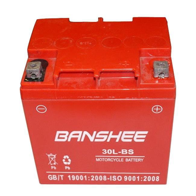 BatteryJack 30L-BS-Banshee8 Banshee YTX30L - BS Power Sports Battery Replaces ETX30L CYIX30L - BS YGIX30 M7230L
