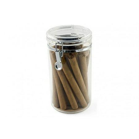 Acrylic Jar Cigar Humidor w/ Humidifier - Capacity: (Best 25 Cigar Humidor)