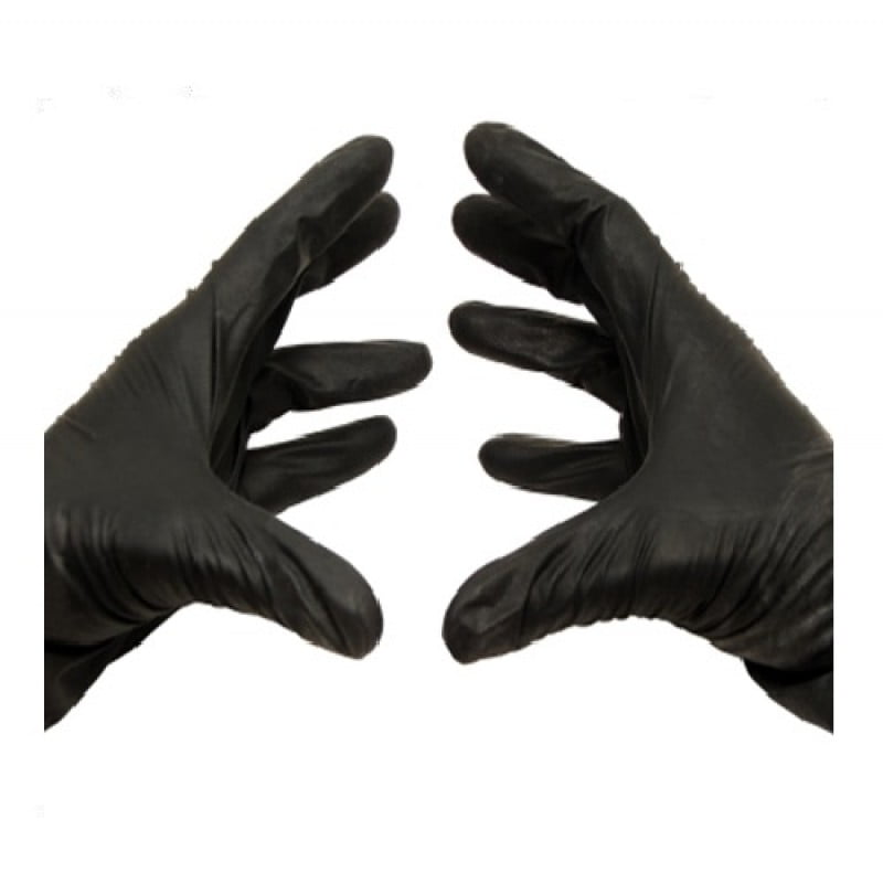 4 Mil Nitrile Medical Examination Gloves Black Powder & Latex Free, Disposable Large 4 Mil 10000 by PackagingSuppliesByMail