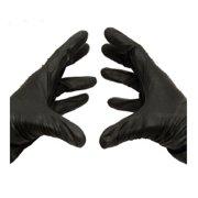 Latex & Powder Free Black Nitrile Medical Disposable Gloves, 4 Mil, Medium 100 Count
